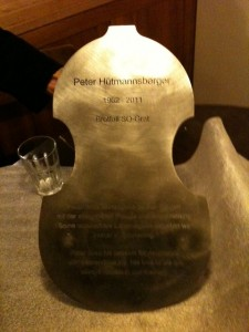 Memorial plaque for Peter